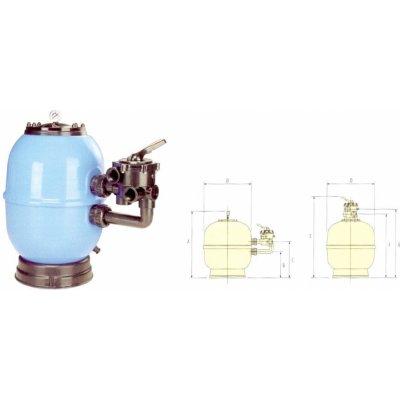 VÁGNER POOL Filtrační nádoba Lisboa 450 mm, 8 m3/h, boční recenze